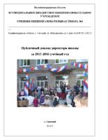 Публичный доклад 2016