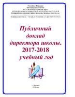Публичный доклад 2018
